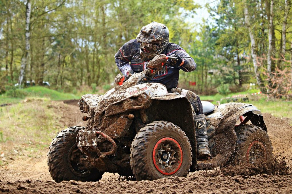 ATV in the mud