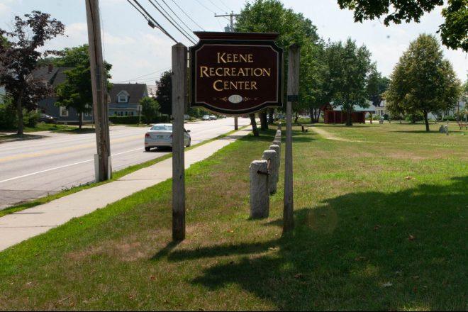 Keene Rec Center sign