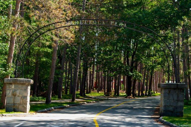 Wheelock Park entrance