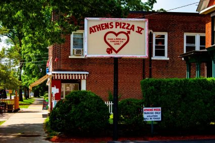 Athens Pizza sign