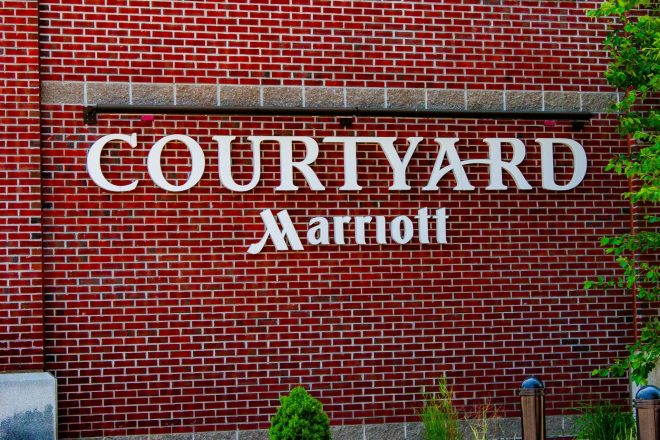 courtyard Marriott sign