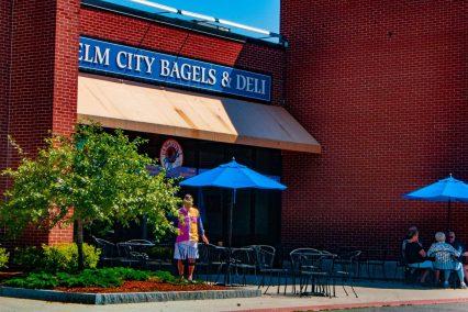 Elm City Bagels & Deli sign
