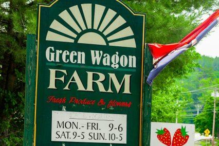 Green Wagon Farm sign