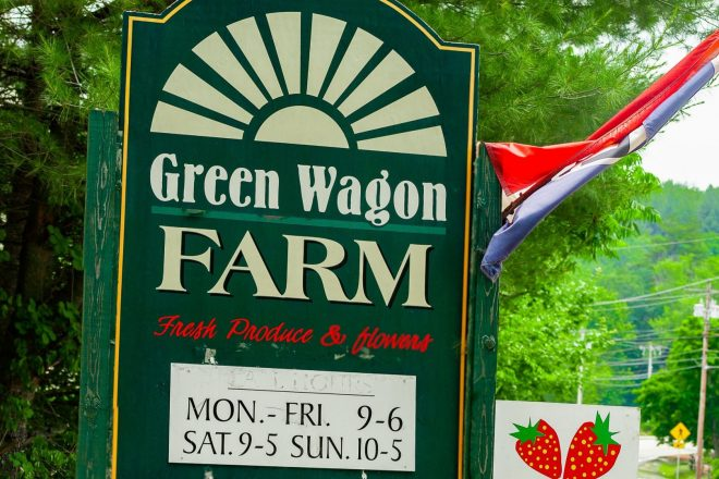 Green Wagon Farm sign