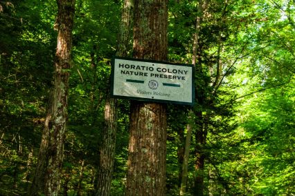 Horatio Colony Nature Preserve sign