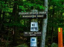 Pisgah State Park sign