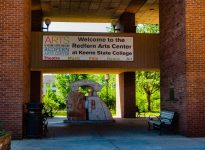The Redfern Arts Center entrance