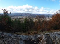 Sunset rock view in Autumn