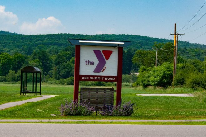 Keene Family YMCA sign